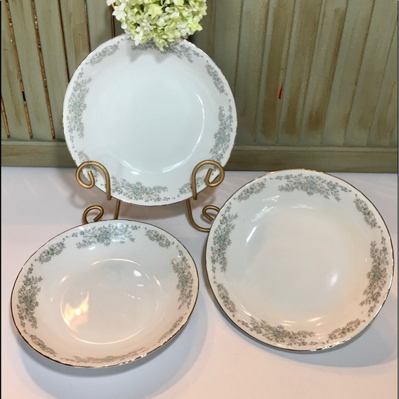 Vintage Other - Norleans China Theresa Coupe Soup Bowls Set of 3